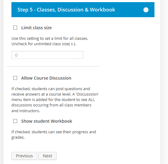 CoursePress - New Course - Classes, Discussion and Workbooks
