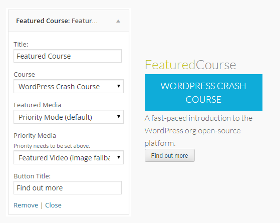 CoursePress - Widgets - Featured Course