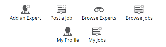 Jobs and Experts - Icons - Dark