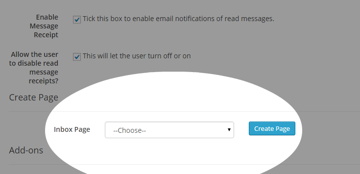 Create Inbox Page