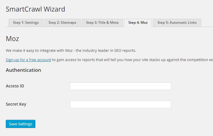 Moz API Credentials