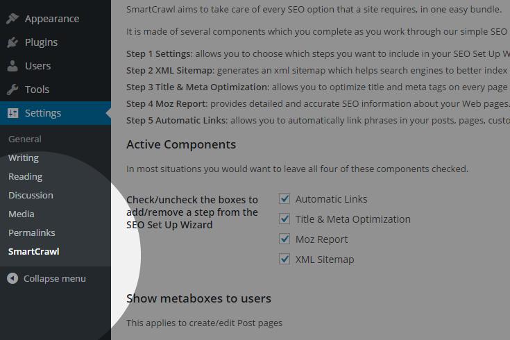 Single Site Dashboard Menu Item