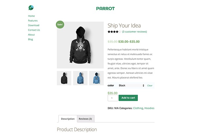 Included WooCommerce styles make it easy to setup a ecommerce store.