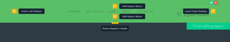 Region controls exposed