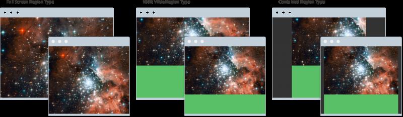 upfront region layouts explained