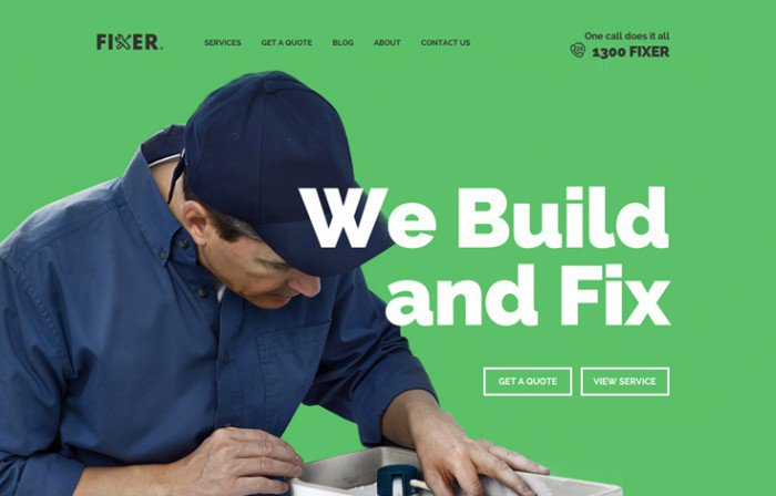 Fixer Upfront theme preview