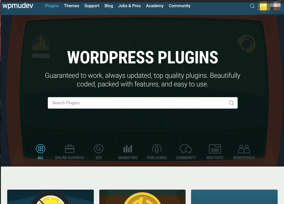 Search all plugins