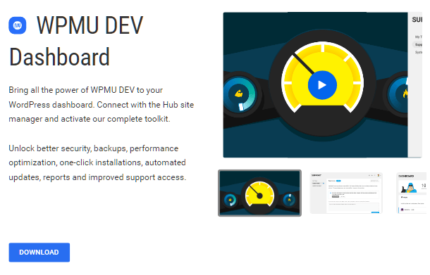 WPMU DEV dashboard plugin page