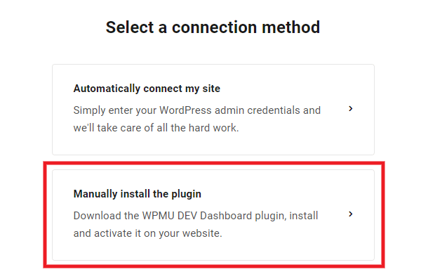 Manually connect a new site in the Hub