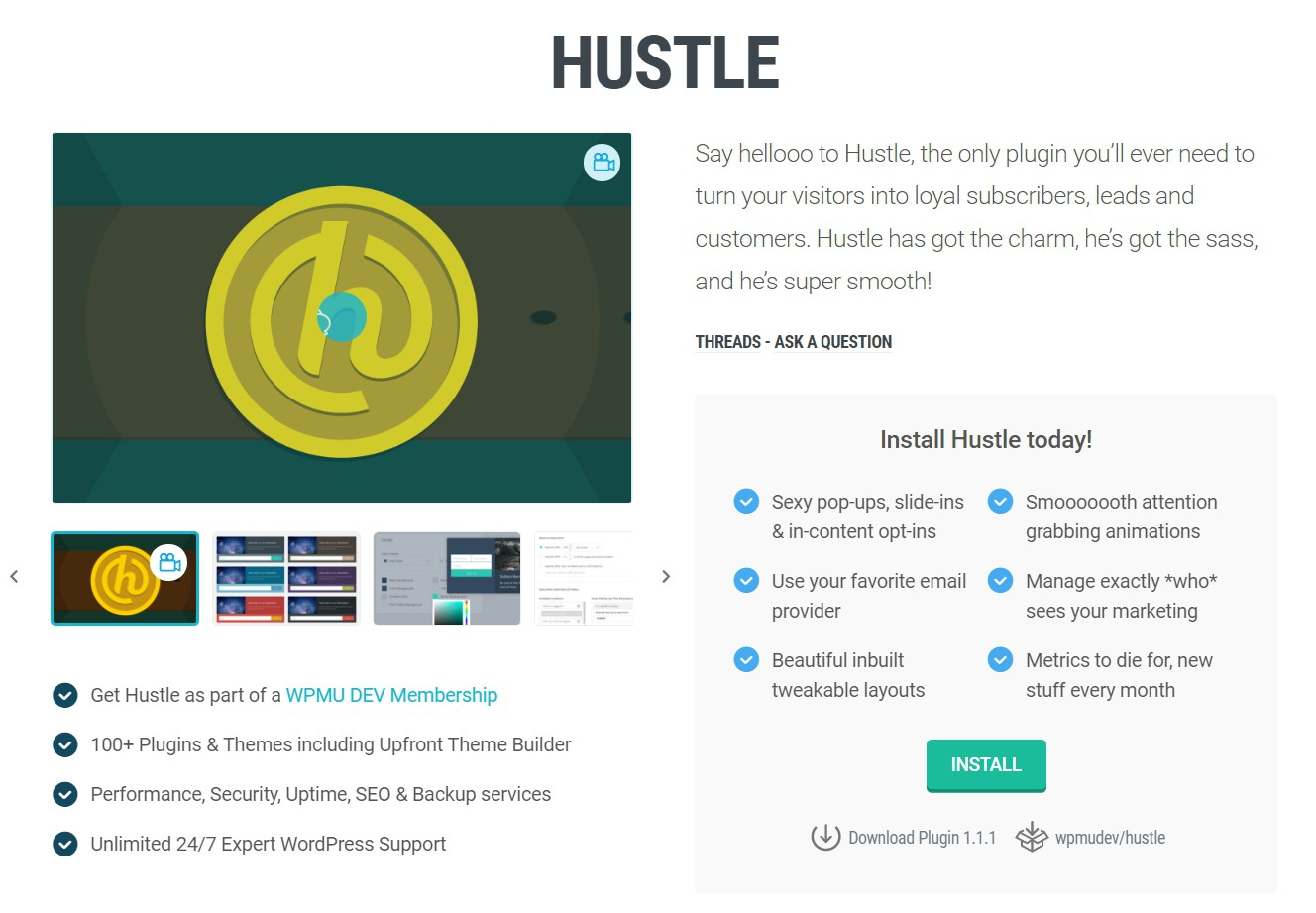 hustle_project_page