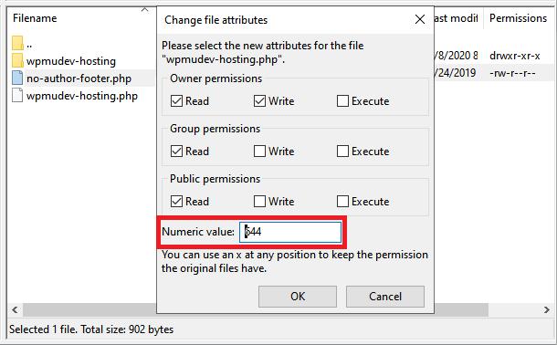 Update file permissions