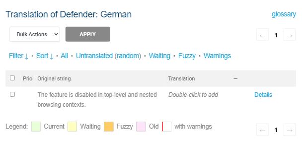 Language selected for WPMU DEV product translation