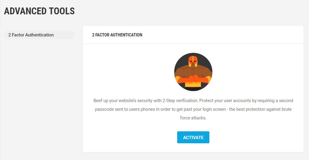 activate 2 factor authentication