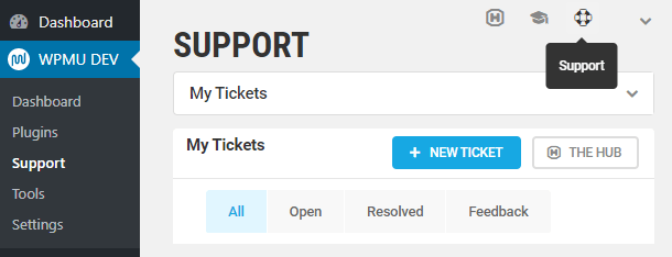 create a new support ticket