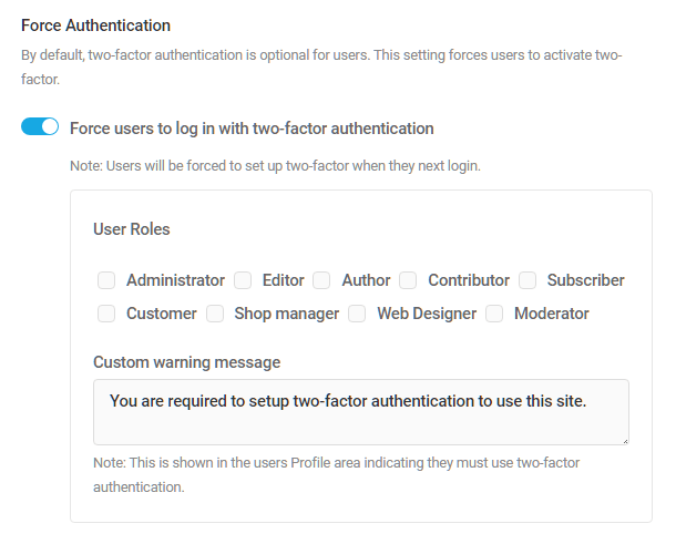 Force 2 factor authentication in Defender
