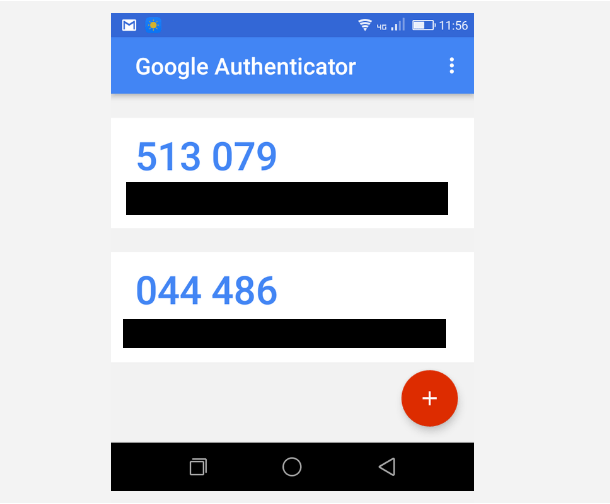 2 factor authentication code on phone