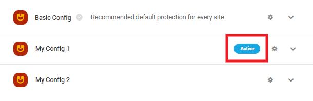 Defender configs active