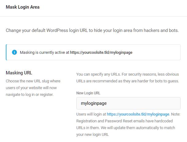 Enter custom login slug in Defender