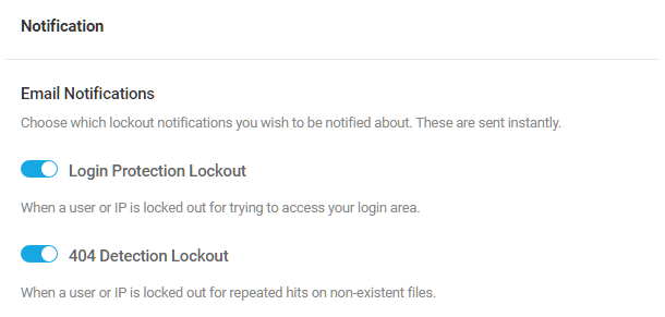 Email notification options in Defender firewall