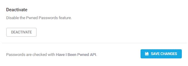 Deactivate Pwned Passwords in Defender