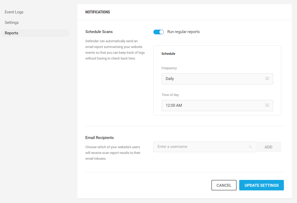 audit logging notifications