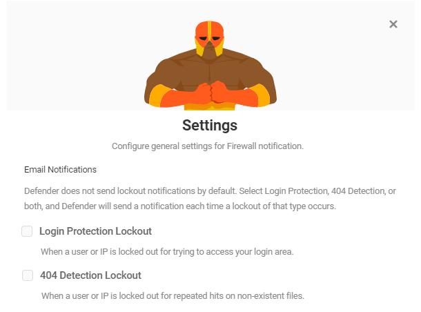 firewall notifications settings email notifs