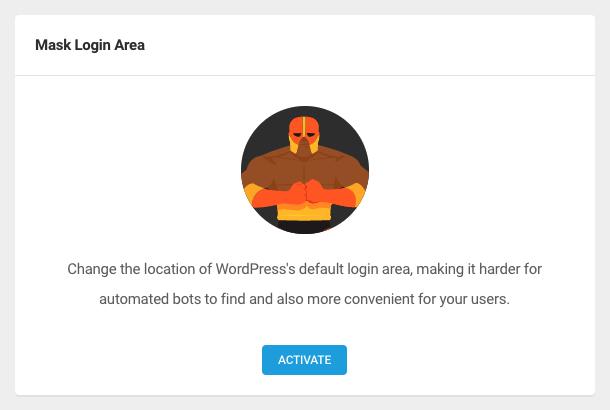 Mask login area