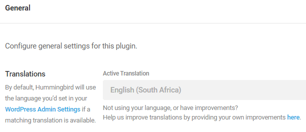 active translation settings
