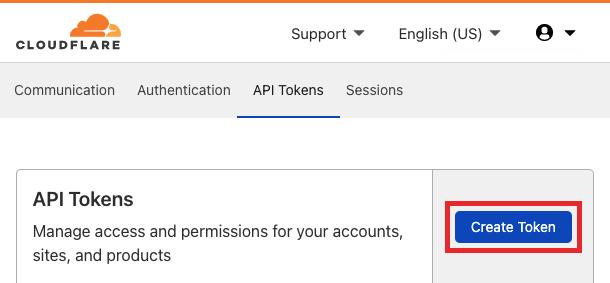 Create Cloudflare token