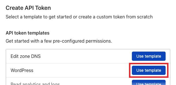 Use WordPress token template