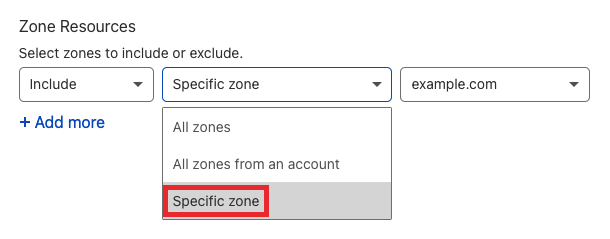 Select zone resources