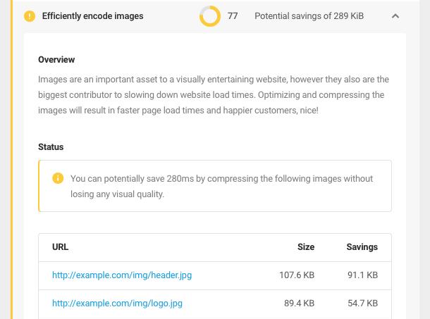 'efficiently encode images' audit