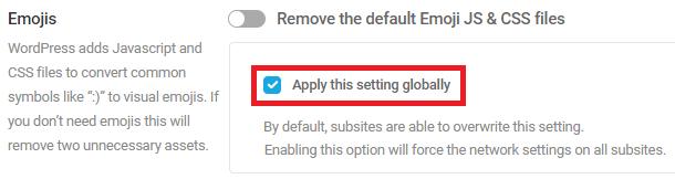 global emojis settings