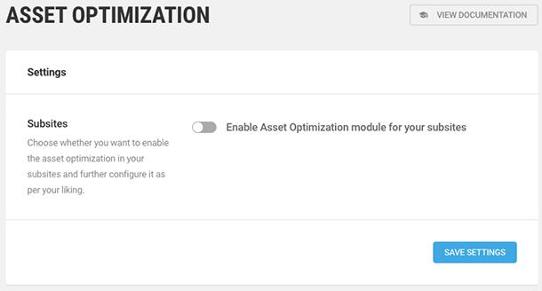 asset optimization in multisite