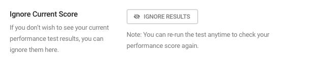 Ignore current score