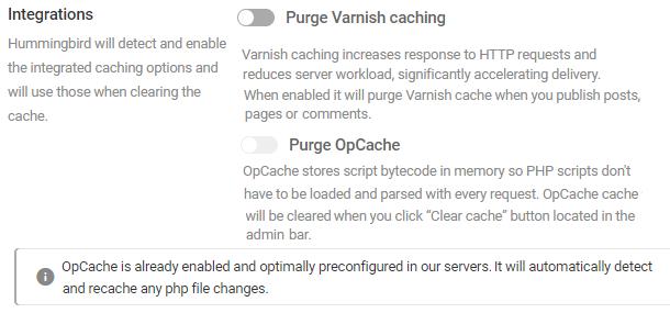 integrations settings