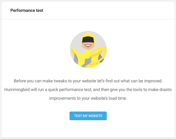 First time performance test page