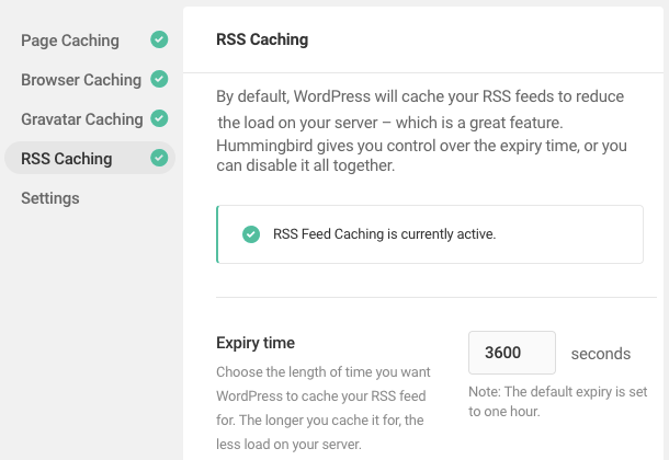 rss caching