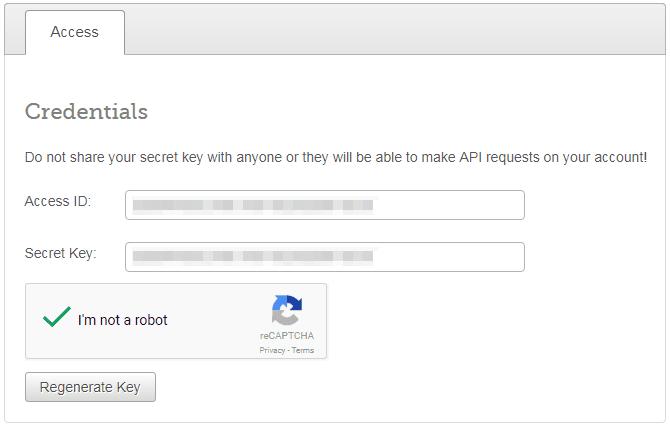API-Credentials