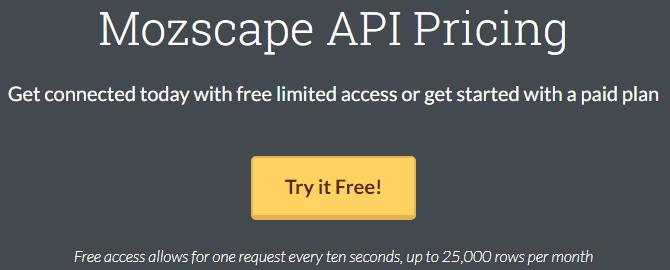 Moz-API-FREE
