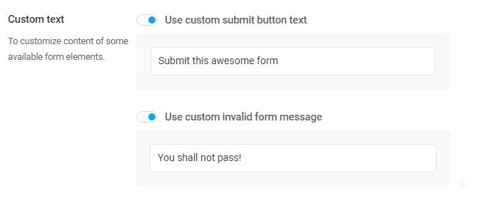 Custom-text