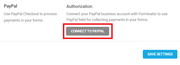 Connect PayPal to Forminator