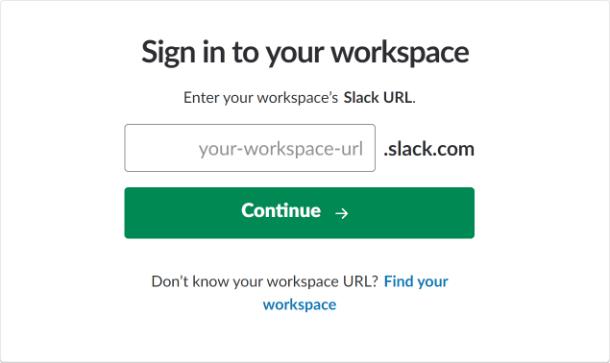 Sign into Slack for integration in Forminator