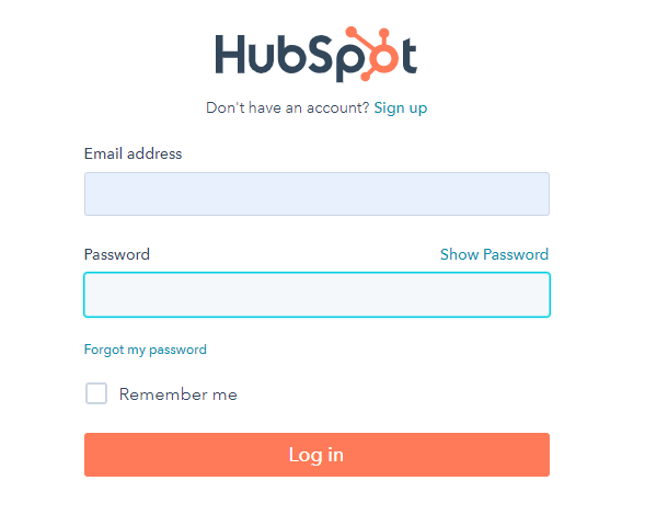 Log into HubSpot to integrate with Forminator