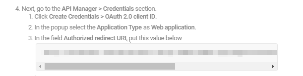 Redirect URI in Forminator for Google