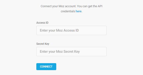 Add Moz API credentials in SmartCrawl