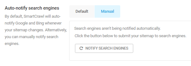 auto-notify search engines