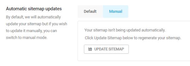automatic sitemap updates