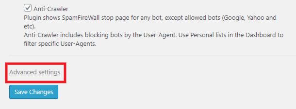 CleanTalk advanced settings