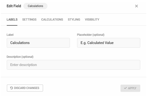 Edit Calculations field labels in Forminator